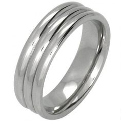 This stainless steel ring has a modern ribbed design and a high shine polished finish. Wear it as a stylish fashion accessory or a contemporary wedding ring. Stainless Steel Rings, Bling Jewelry, Men's Jewelry, Wholesale Jewelry, Fashion Rings, Fashion Jewelry, Bling Bling, Rings For Men, Fashion Accessories