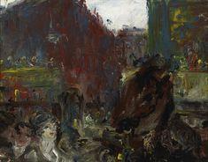 "blastedheath: "" Jack Butler Yeats (Irish, Crossing the City, Oil on canvas, 14 x 18 in. Jack B, Irish Art, Painting Gallery, Triptych, Art Auction, Butler, Dublin, Oil On Canvas, Art Photography"