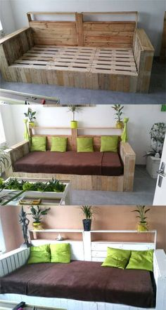 √ Pallet Furniture Diy Couch How to Make. Fresh Pallet Furniture Diy Couch How to Make. 12 Easy Pallet sofas and Coffee Tables to Diy In E Diy Sofa, Diy Furniture Couch, Diy Pallet Furniture, Diy Pallet Projects, Furniture Projects, Furniture Design, Pallet Ideas, Sofa Design, Rooms Furniture