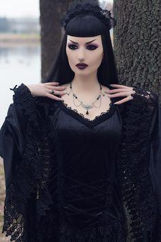 Model: Obsidian Kerttu Photo: John Wolfrik Clothing: Sinister - The Gothic Shop Necklace: AppleBite jewelry Welcome to Gothic and Amazing |www.gothicandamazing.com