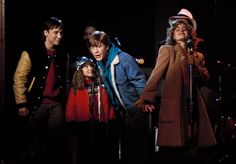 "Keith Coogan, Maia Brewton, Anthony Rapp and Elisabeth Shue from ""Adventures in Babysitting"" (1987)"