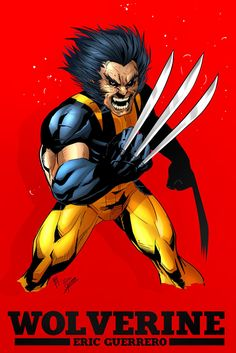 Wolverine Red by *e-guerrero on deviantART Marvel, Wolverine, Comic Art, Deviantart, Comics, Artist, Red, Movie Posters, Inspiration