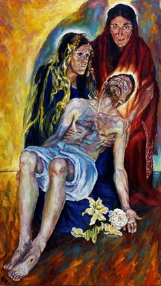 Rob Floyd Fine Art - Stations of the Cross, Pieta (Thirteenth Station)183cm x 105cm