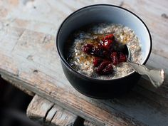 Quinoa Almond Milk Pudding with Dried Cherries and Honey