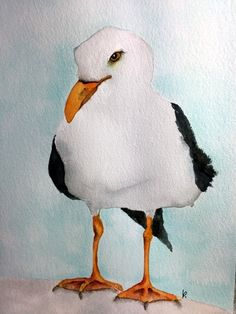 My original watercolor bird painting Winter gull I love to make bird art. I painted him from a photo I took at the lake near where I live in Southern Illinois. This seagull is the first of many winter gulls this year I hope. This original watercolor painting measures approx. 9 x 12 inches, painted on heavy watercolor paper. I will ship it in an acid free sleeve with a back board. In addition to this original watercolor I offer this bird print and many others in my shop. I paint watercolor…