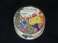Vintage French Theatrical Face Powder Box   by KISoriginals, $79.00