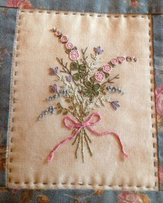 Hand Embroidered Needle Case and Pinchusion pattern   Stitching Cow