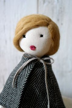 Cloth doll Rag doll handmade retro one of a by lespetitesmainsS, $95.00