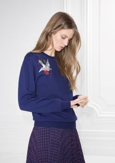 & Other Stories image 2 of Bird Sweater in Blue