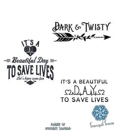 SVG & DXF design Set of 3 It's a Beautiful Day to Save