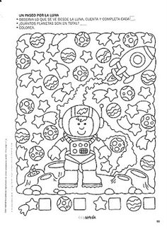 Album Archive - 4 5 6 Mania Numeros del 1 al 30 Space Activities, Learning Activities, Activities For Kids, Primary Science, Science Classroom, Preschool Coloring Pages, Hidden Pictures, Sistema Solar, Space Theme