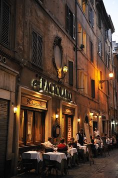 Italian Cafe - don't think you have room for street side cafe seating? Think again.