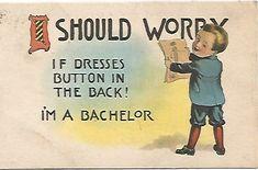 Antique Postcard I Should Worry If Dresses by postcardsintheattic, $4.99 New Listing: #postcard #ephemera #antique #vintage #vintagepaper #etsy #antiquepaper #collectible #antiquepostcard #vintagepostcard #Dutch