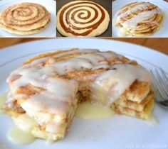 DIY Cinnamon Roll Pancakes