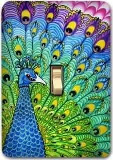 Peacock Metal Light Switch Plate Cover  $12.99 www.AllThingsPeacock.com