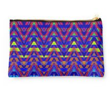 Studio Pouch Sliced Triangles is a bold and colorful chevron design.
