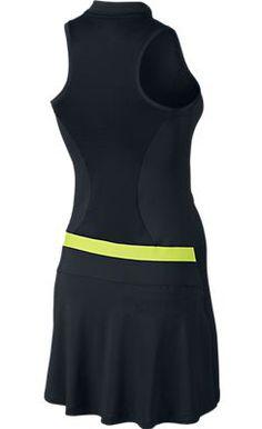 Black/Volt Nike Ladies Sleeveless Golf Dress at #lorisgolfshoppe