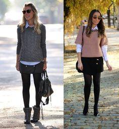 4_Look de Inverno_look de inverno para o trabalho_saia e meia calça_blusa de lã com camisa
