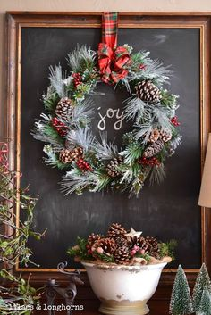 40+ diy christmas wreath ideas to deck out your door | diy