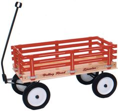 """VALLEY ROAD SPEEDER WAGON MODEL #175: The # 175 is our second smallest in the wagon series, yet it boasts a medium bed and hauls a load of 350 pounds! With hard rubber tires, this is meant for hard surfaces like blacktop.16"""" x 36 """" bed size. - See more at: http://www.almost-amish.com/products/valley-road-speeder-wagon-175#sthash.7sioVmcW.dpuf"""