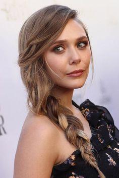 Braid & Plait Ideas - Celebrity Hairstyles 2017   Glamour UK  Elizabeth Olsen loose braid
