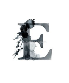 Monogram E Dark Herbs And Flora by floralmonogram e harfi 'Monogram E Dark Herbs And Flora' by floralmonogram E Letter Design, Alphabet Design, Alphabet Art, Broken Heart Photos, Alphabet Wallpaper, Creative Names, Font Art, Name Art, Lettering Design
