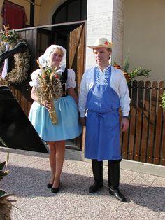 folk costume- Kroj - Jižní Morava - Vracov - Dožínky - hospodáři
