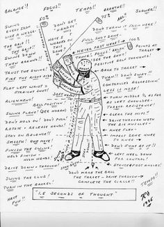 The jumbled thought process of a golfer - LOL!