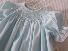 Baby+Dress++Hand+Smocked+Infant+Dress+by+sewingnanac+on+Etsy
