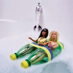 DIY idea: floatie for the barbie dolls