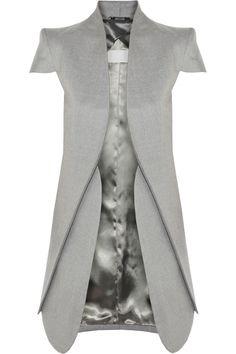 Maison Martin Margiela - cap sleeved wool and silk-blend jacket