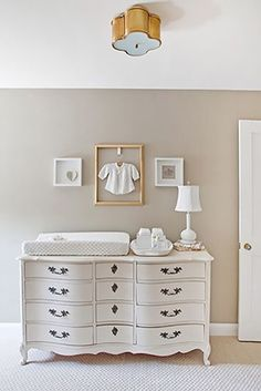 Love the dresser 12 best warm neutral paint colors for your walls // neutral nursery design // nursery rooms