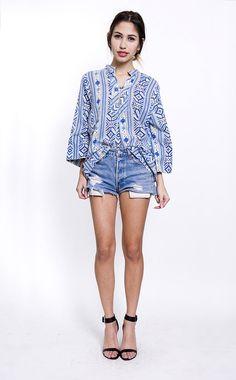 ShopRerun.com: The Blue Aztec Tunic | rerun