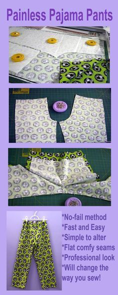 Brilliant. Brilliant, brilliant, brilliant way to sew pajama pants.