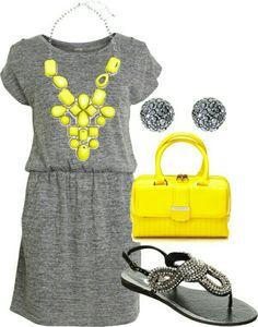 Gray & yellow - cute pairing