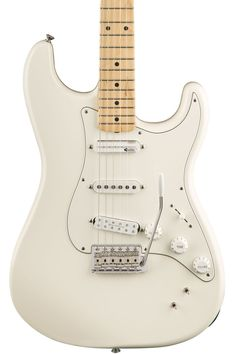 Fender EOB Stratocaster with Maple Fretboard - Olympic White