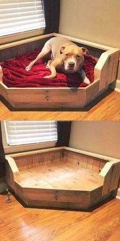 ultimate dog bed dog stuff wood dog bed pallet dog beds diy rh pinterest com