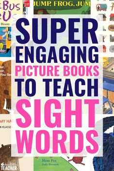 The 10 books are the best for teaching sight words to preschool, kindergarten, and first grade students. I love using these engaging books in the classroom and we have a lot of fun reading them! Teaching Sight Words, Sight Word Practice, Sight Word Games, Sight Word Activities, Sequencing Activities, Vocabulary Activities, Literacy Activities, Kindergarten Reading, Teaching Reading
