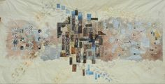 People in the City map art quilt by Silvia Muzzarelli -- Ritagli d'Arte