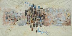 People in the City map art quilt by Silvia Muzzarelli -- Ritagli d'Arte
