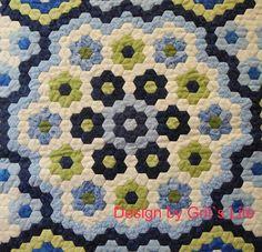 Grit's Life: Part 1 Hexagon Quilt La Passion