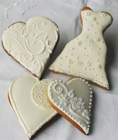 Wedding favour iced biscuits