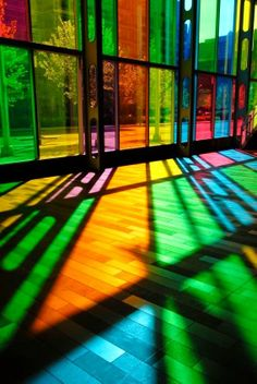 Stained glass windows play with the senses in this...