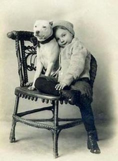 Vintage pitbull nanny Prints