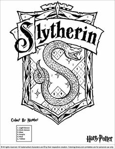 Slytherin Crest Black And White Harry Potter Watercolor Printable Painting Wall Art