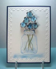 QFTD70 Jar Flowers by jandjccc - Cards and Paper Crafts at Splitcoaststampers