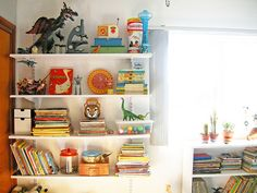 Toy Shelves.