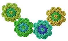 needle book: Crochet flower scarf - how to
