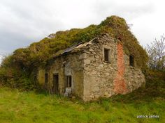 abandoned house. inch island.county Donegal.