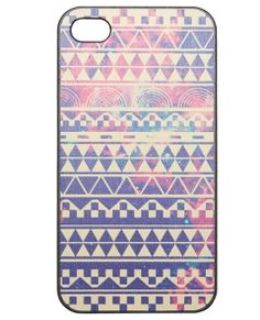 Get galactic with your tribal print while making your iPhone 4/4S cute and keeping it protected with this plastic case. The fun print decorates the back of the case, which snaps on and off, and includes cutouts for all the important buttons and connections.      Man Made Materials     Imported